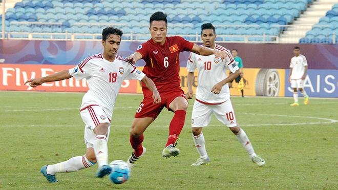 Tiền vệ Bùi Tiến Dụng (giữa) là một trong những con bài trong tay áo của HLV Park Hang Seo ở giải lần này.
