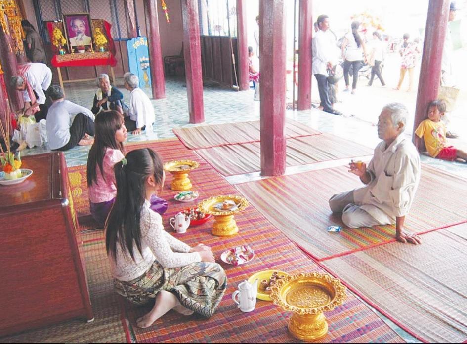 Lễ cầu nguyện Quốc thái dân an trong Lễ hội Cúng Phước biển Vĩnh Châu.
