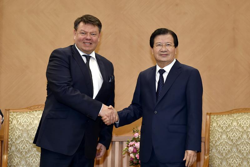 Phó Thủ tướng Trịnh Đình Dũng tiếp ông Petteri Taalas, Tổng Thư ký WMO