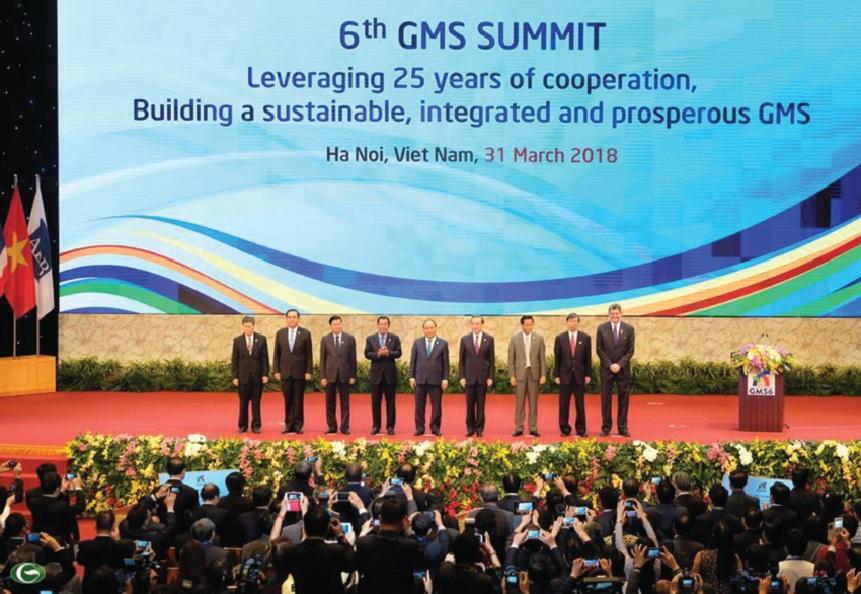 Thủ tướng Chính phủ Việt Nam Nguyễn Xuân Phúc và các nhà lãnh đạo GMS.