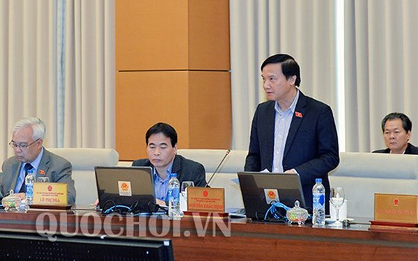 Chủ nhiệm Uỷ ban Pháp luật Nguyễn Khắc Định đề nghị làm rõ thế nào là giải trình không hợp lý về tài sản, thu nhập để đảm bảo tính khả thi.