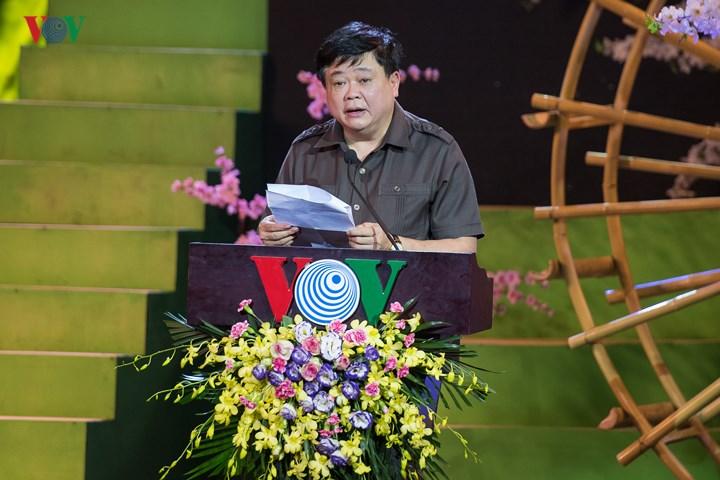PGS.TS Nguyễn Thế Kỷ, Ủy viên Trung ương Đảng, Tổng Giám đốc Đài Tiếng nói Việt Nam phát biểu khai mạc.