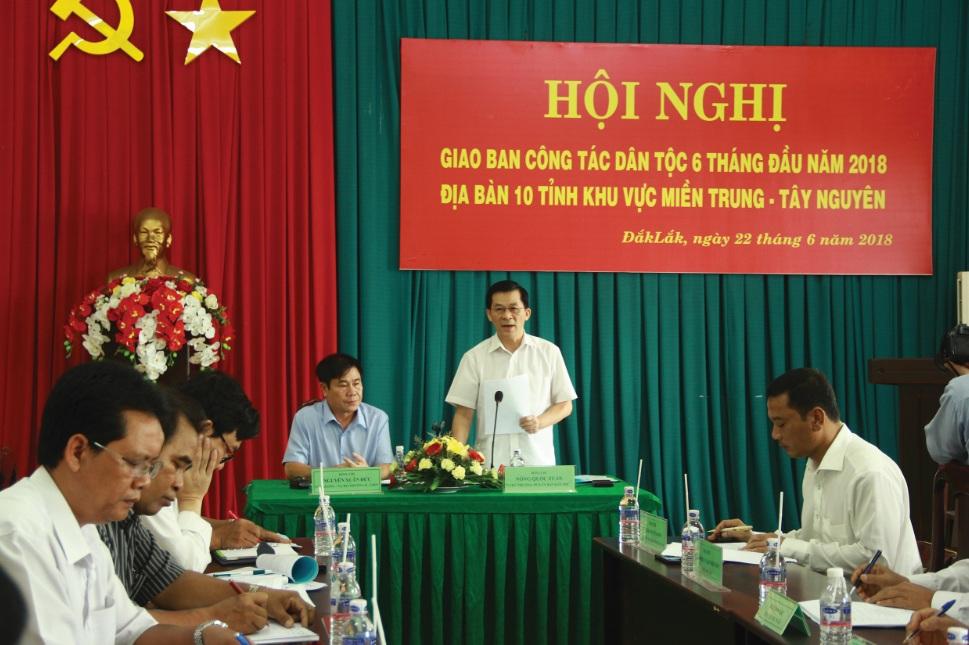 Ông Nông Quốc Tuấn, Thứ trưởng, Phó Chủ nhiệm Ủy ban Dân tộc chủ trì Hội nghị.