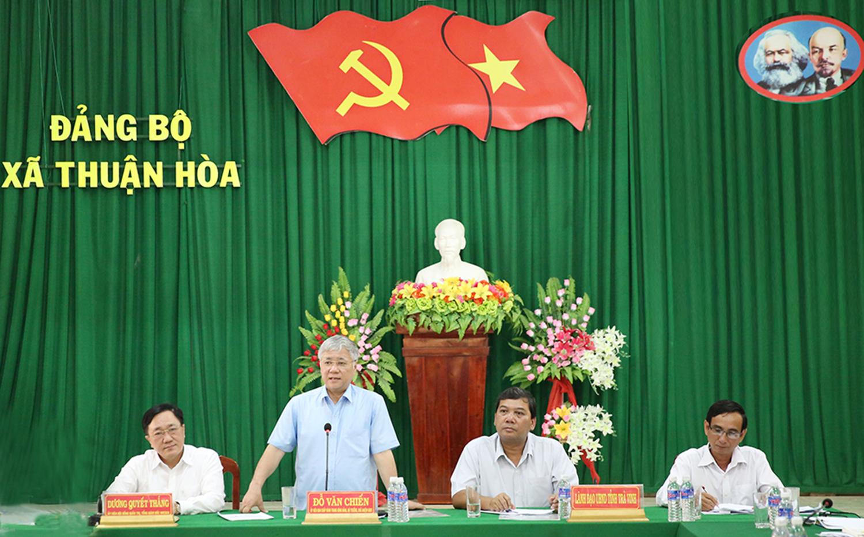 Bộ trưởng, Chủ nhiệm Ủy ban Dân tộc Đỗ Văn Chiến phát biểu (2)