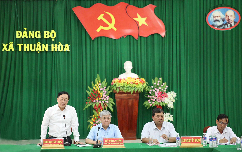 Tổng Giám đốc NHCSXH Dương Quyết Thắng phát biểu