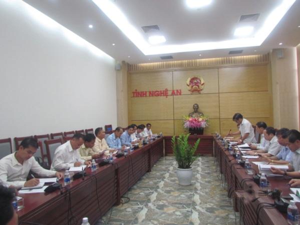 Đoàn công tác làm việc với UBND tỉnh Nghệ An.