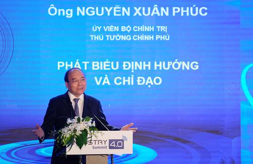 """Thủ tướng khẳng định """"Việt Nam không nằm ngoài cách mạng công nghiệp 4.0"""". Ảnh: VGP/Quang Hiếu"""