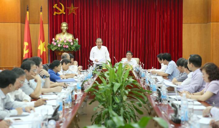 Phó Thủ tướng Trương Hòa Bình phát biểu tại hội nghị. Ảnh: VGP/Lê Sơn