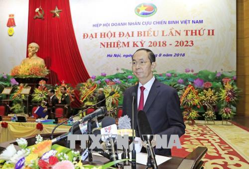 Chủ tịch nước Trần Đại Quang phát biểu tại Đại hội. Ảnh: TTXVN