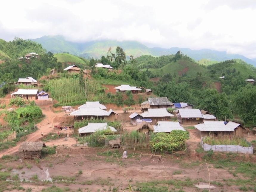 Bản tái định cư Tân Phong, xã Mường Nhé, huyện Mường Nhé.