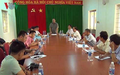 Ông Hoàng Văn Thắng làm việc với Lãnh đạo Công ty Cổ phần thủy điện Sông Tranh.