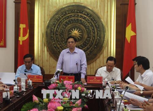 Trưởng Ban Tổ chức Trung ương làm việc tại Thanh Hóa