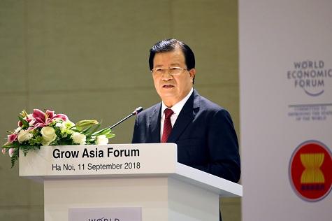 Phó Thủ tướng Trịnh Đình Dũng phát biểu khai mạc Diễn đàn - Ảnh: VGP/Nhật Bắc
