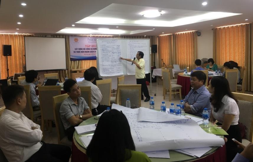 Cán bộ tham dự Hội thảo trình bày ý tưởng sau khi thảo luận nhóm
