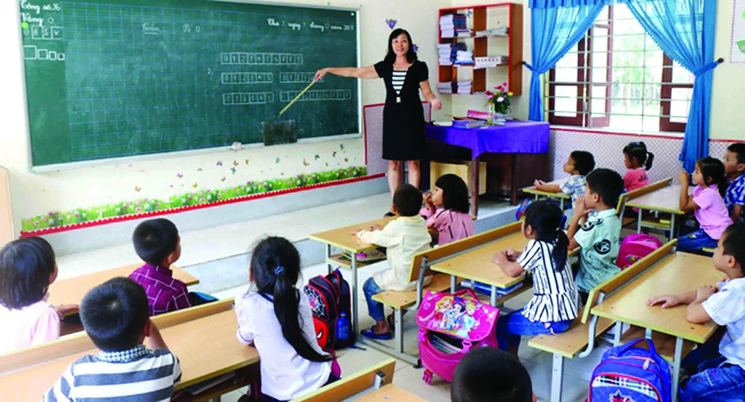 Một giờ học tại Trường Tiểu học xã Châu Quang, huyện Quỳ Hợp (Nghệ An).