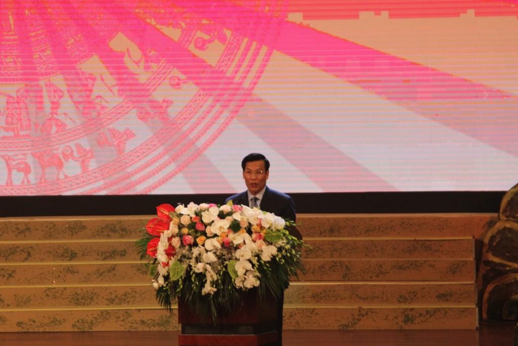 Bộ trưởng Bộ Văn hóa, Thể thao và Du Lịch Nguyễn Ngọc Thiện phát biểu tại lễ khai mạc.