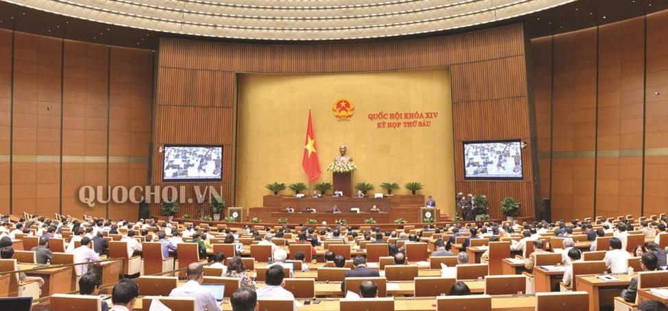 Quốc hội họp phiên toàn thể tại Hội trường ngày 13/11.