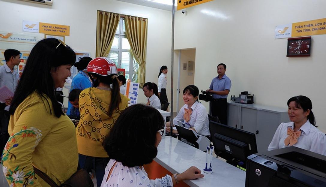 Điểm cung cấp dịch vụ tại Bưu điện Lai Vung.