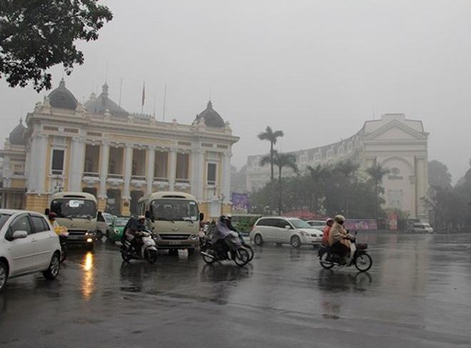 Thủ đô Hà Nội, đêm và sáng sớm có mưa, mưa nhỏ rải rác, sau có mưa vài nơi. Ảnh minh họa. Nguồn: baogiaothong.vn.