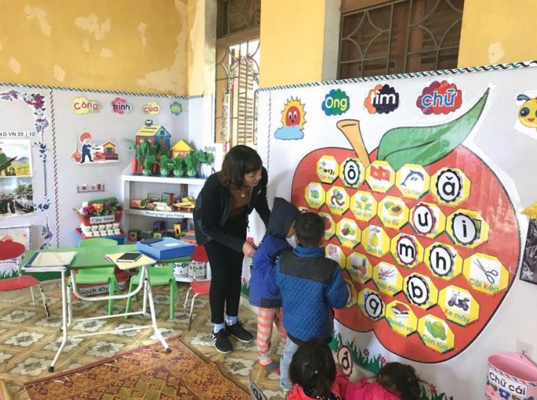 Tạo môi trường tăng cường tiếng Việt trong lớp tại lớp mẫu giáo ghép điểm trường Huổi Púng, xã Thanh An, huyện Điện Biên.