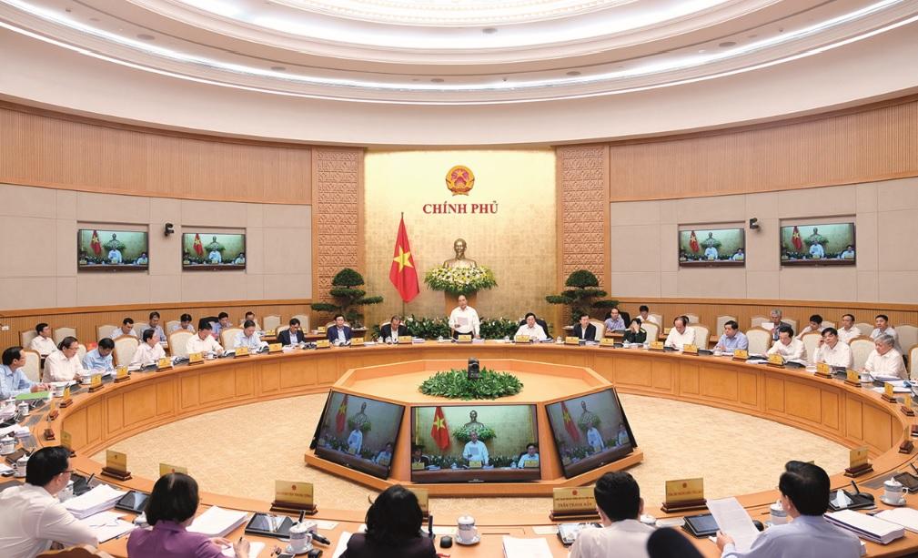 Chính phủ điều hành linh hoạt phát triển kinh tế-xã hội năm 2018. (Trong ảnh: Phiên họp thường kỳ tháng 3/2018 của Chính phủ)
