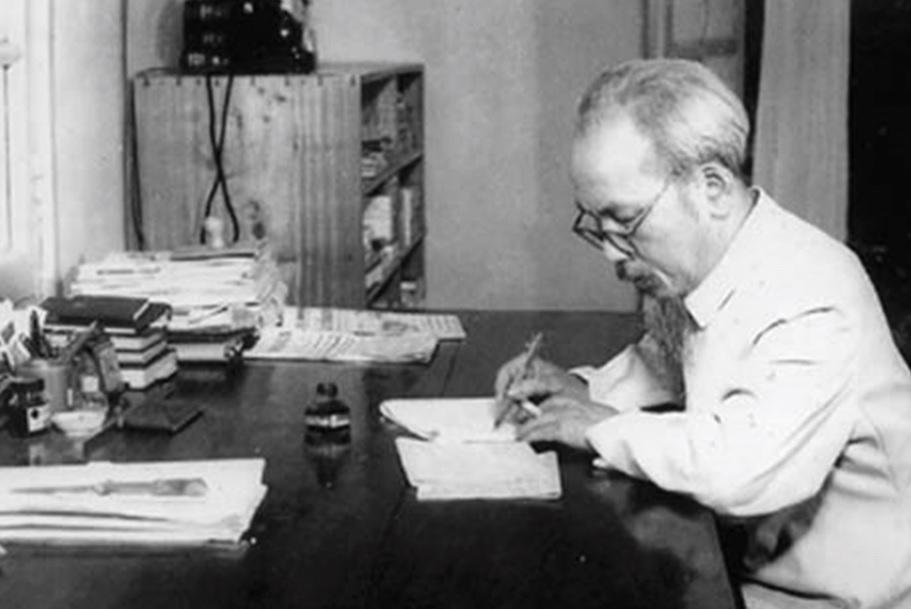 Trong Bản Di chúc lịch sử của Chủ tịch Hồ Chí Minh, lời căn dặn đầu tiên của Người là nói về Đảng. (Ảnh: Tư liệu)