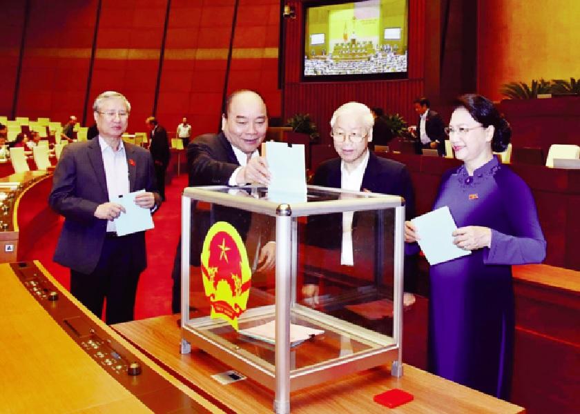 Lãnh đạo Đảng, Nhà nước bỏ phiếu tín nhiệm đối với những người giữ chức vụ do Quốc hội bầu hoặc phê chuẩn tại kỳ họp thứ 6, Quốc hội khóa XIV.