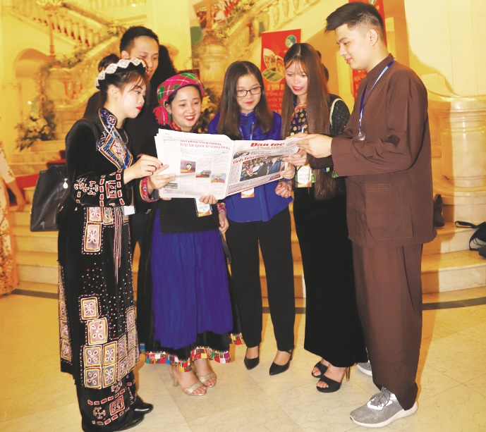 Lễ Tuyên dương là dịp để học sinh, sinh viên DTTS từ mọi miền Tổ quốc gặp gỡ, giao lưu, học hỏi.