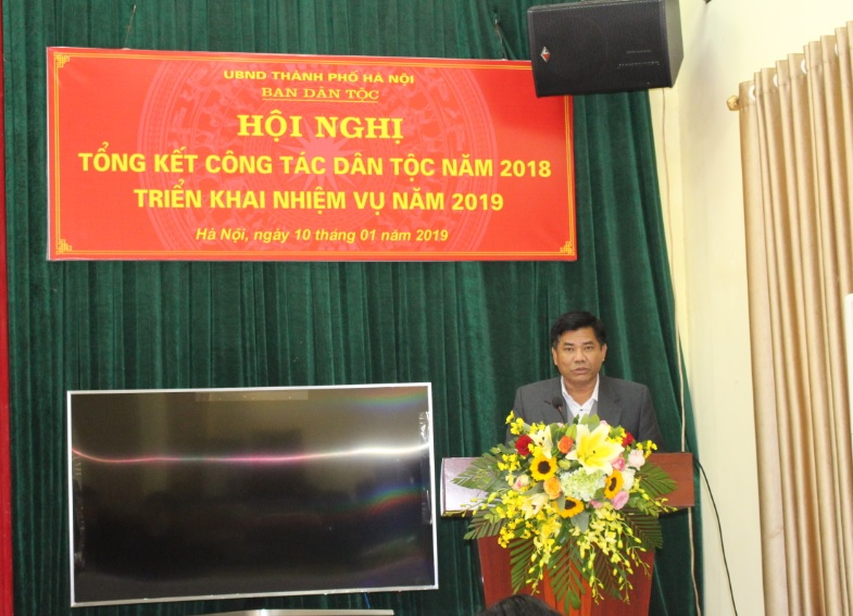 Thứ trưởng, Phó Chủ nhiệm UBDT Y Thông phát biểu chỉ đạo tai Hội nghị