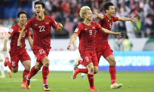 Tuyển Việt Nam đã có mặt ở tứ kết Asian Cup (Ảnh: vnexpress.net)