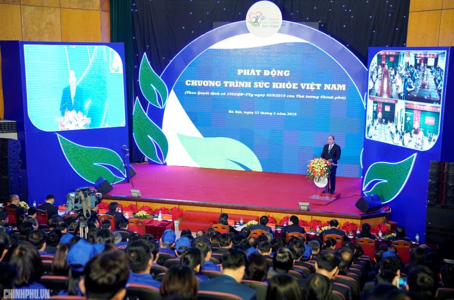 Thủ tướng phát động Chương trình Sức khỏe Việt Nam. Ảnh: VGP/Quang Hiếu