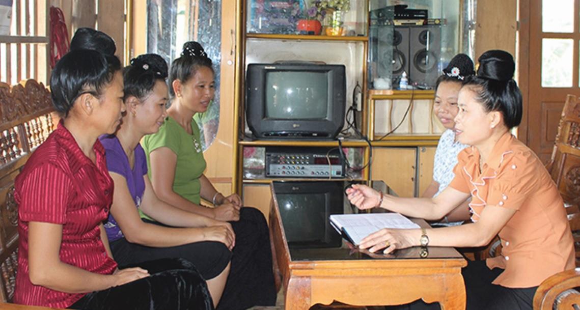 Đội ngũ tuyên truyền viên là người DTTS có vai trò quan trọng giúp giảm thiểu tình trạng tảo hôn, hôn nhân cận huyết.