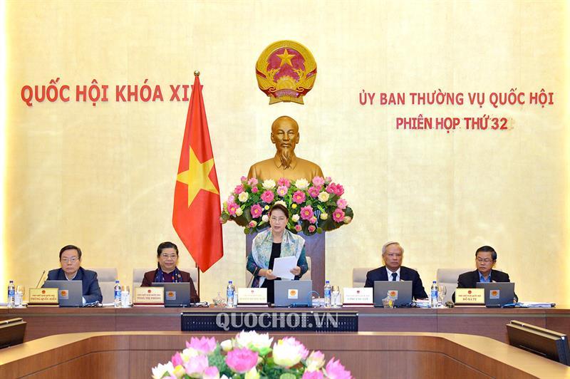 Chủ tịch Quốc hội Nguyễn Thị Kim Ngân phát biểu Khai mạc Phiên họp thứ 32 của Uỷ ban Thường vụ Quốc hội