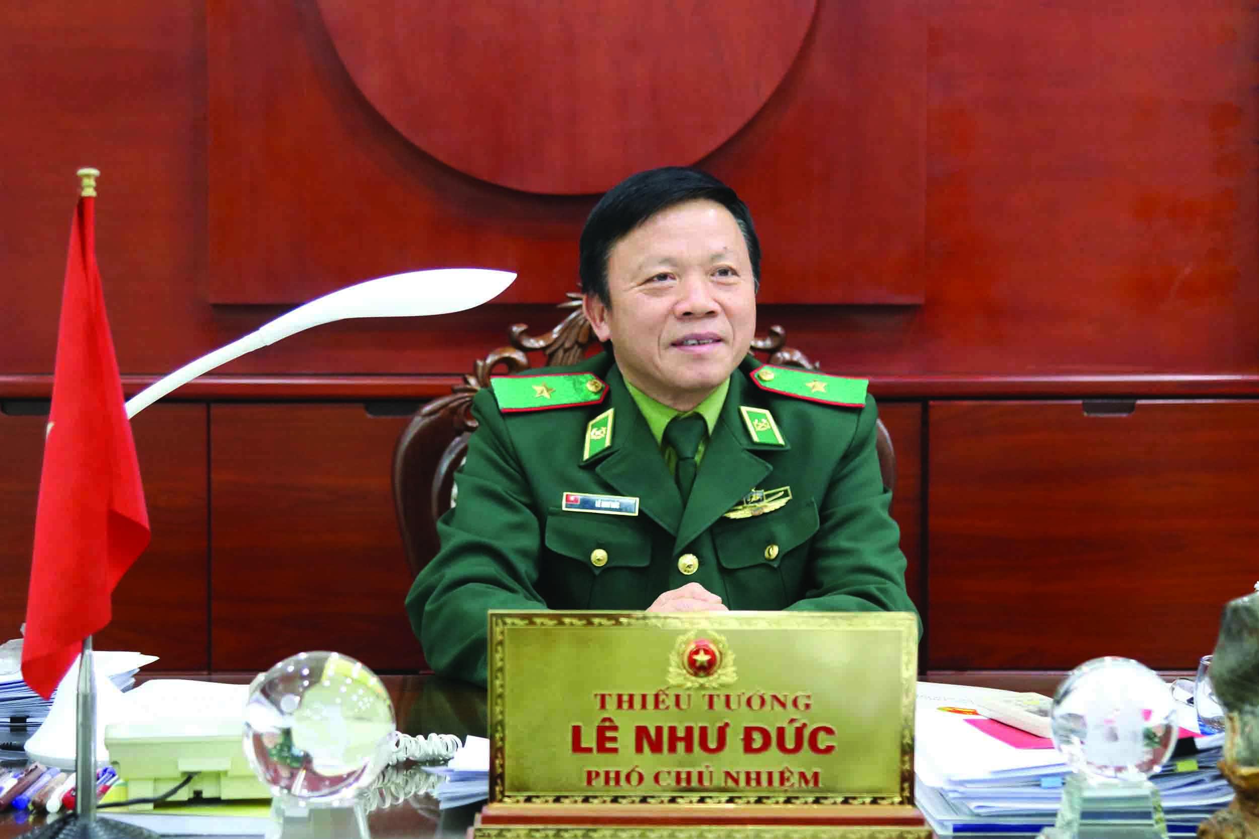 Thiếu tướng Lê Như Đức trả lời phỏng vấn Báo Dân tộc và Phát triển.