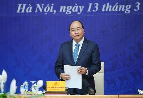 Thủ tướng Nguyễn Xuân Phúc phát biểu tại Hội nghị - Ảnh: VGP/Quang Hiếu
