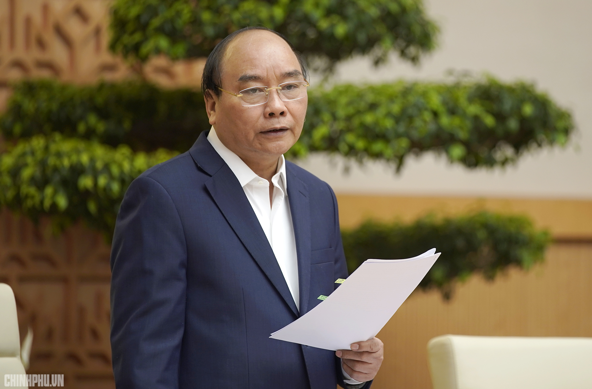 Thủ tướng phát biểu kết luận phiên họp Chính phủ tháng 2/2019. Ảnh: VGP/Quang Hiếu