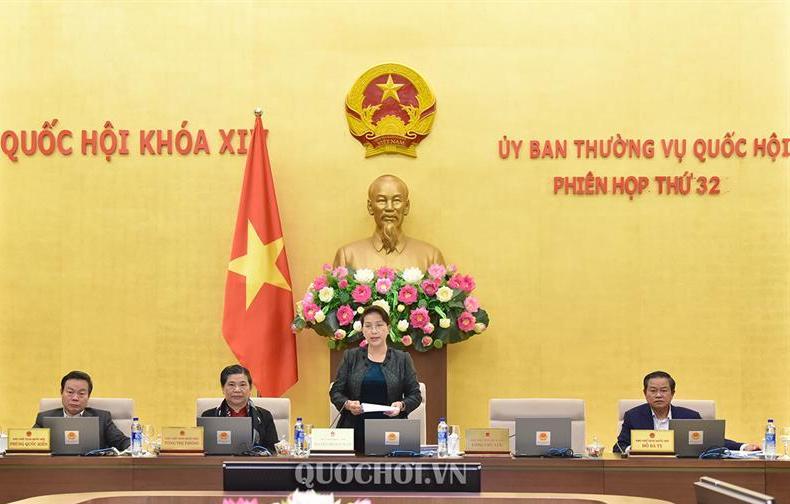 Chủ tịch Quốc hội phát biểu bế mạc phiên họp.