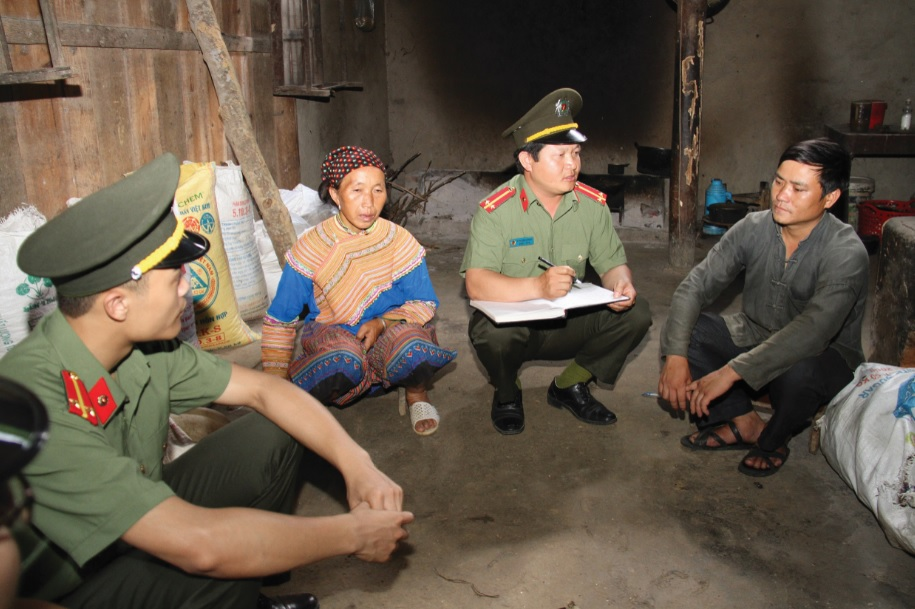 Việc tăng cường công an chính quy về xã góp phần bảo đảm an ninh trật tự tại các địa bàn trọng điểm của tỉnh Lào Cai.