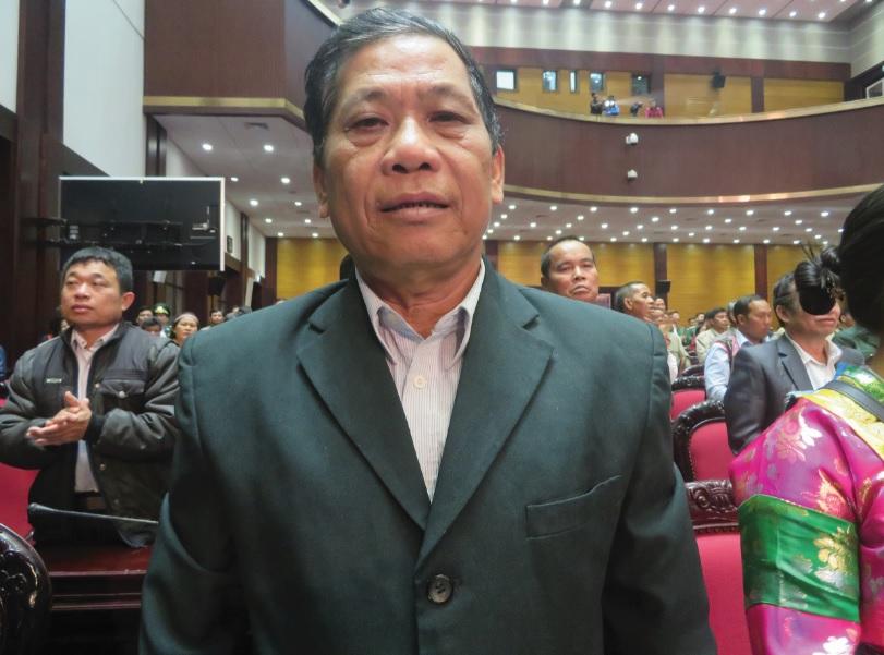 Ông Lưu Quang Mìn, Người có uy tín ở xã Bạch Đích, huyện Yên Minh, tỉnh Hà Giang.