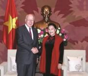 Chủ tịch Quốc hội Nguyễn Thị Kim Ngân tiếp Phó Chủ tịch Ủy ban Chuẩn chi,Thượng nghị sỹ Patrick Leahy.