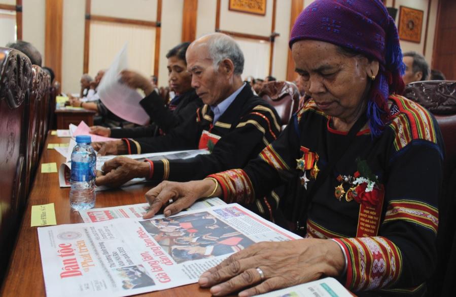 Già làng Ksơr H'Blâm là một trong 56 già làng tiêu biểu tỉnh Gia Lai.