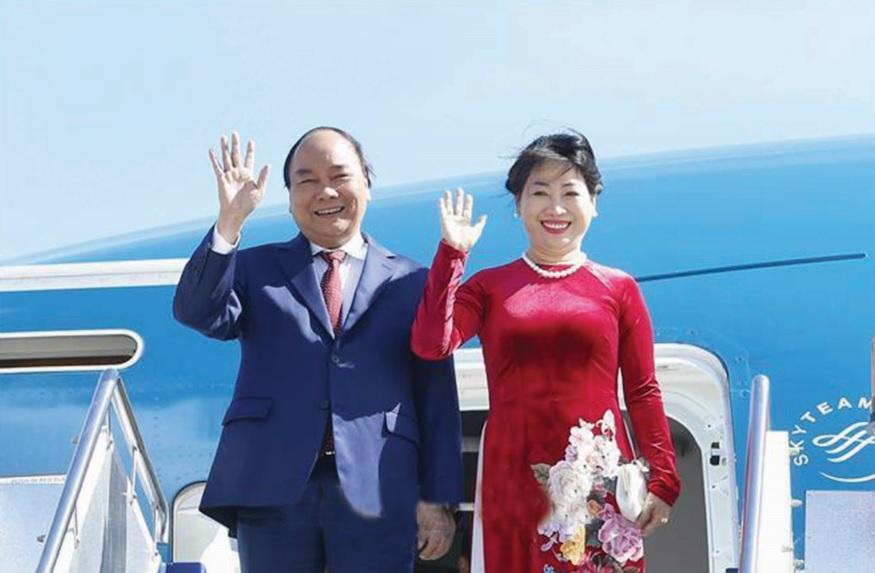 Thủ tướng Nguyễn Xuân Phúc và Phu nhân. Ảnh: Chinhphu.vn