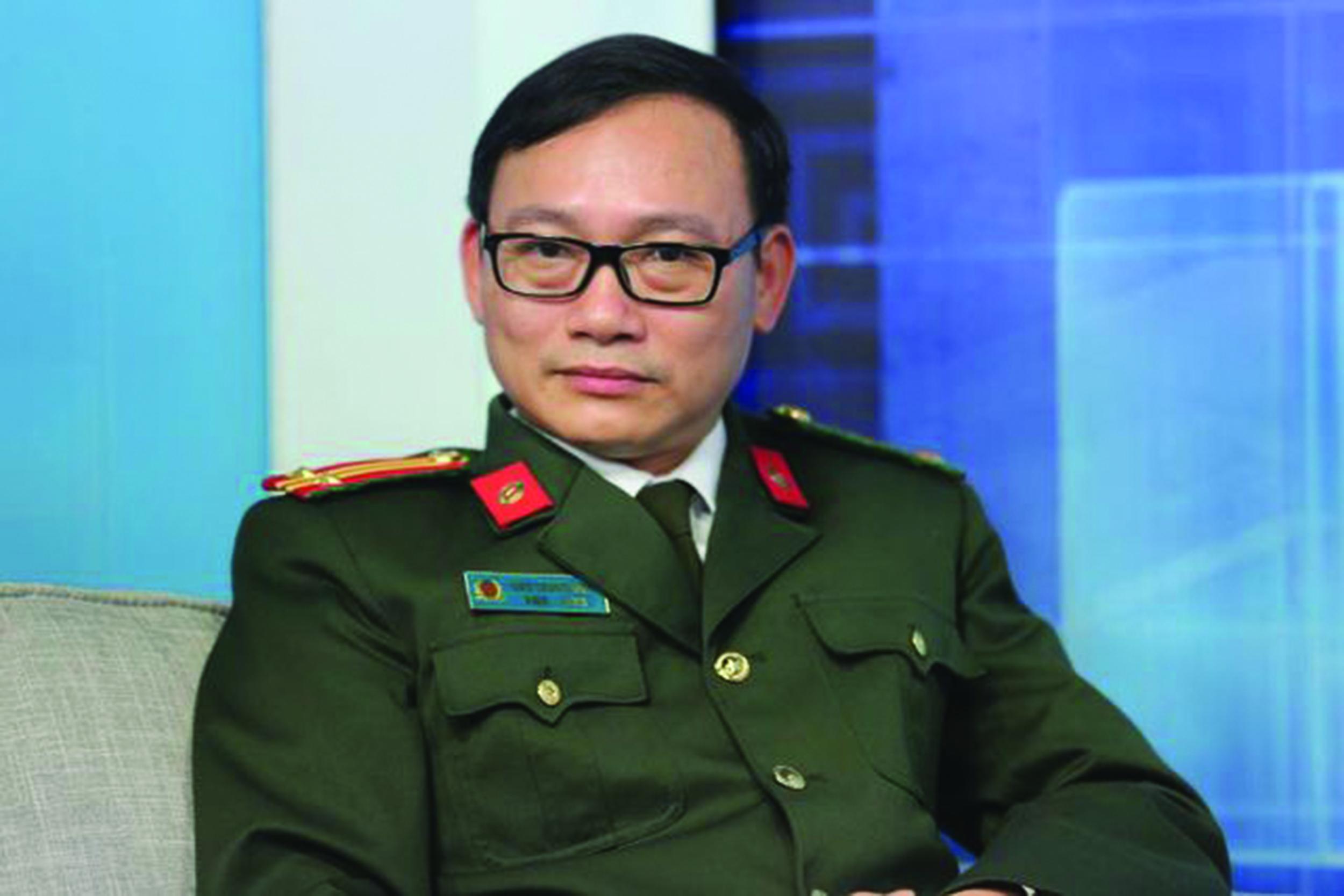 Trung tá, chuyên gia tội phạm học Đào Trung Hiếu.