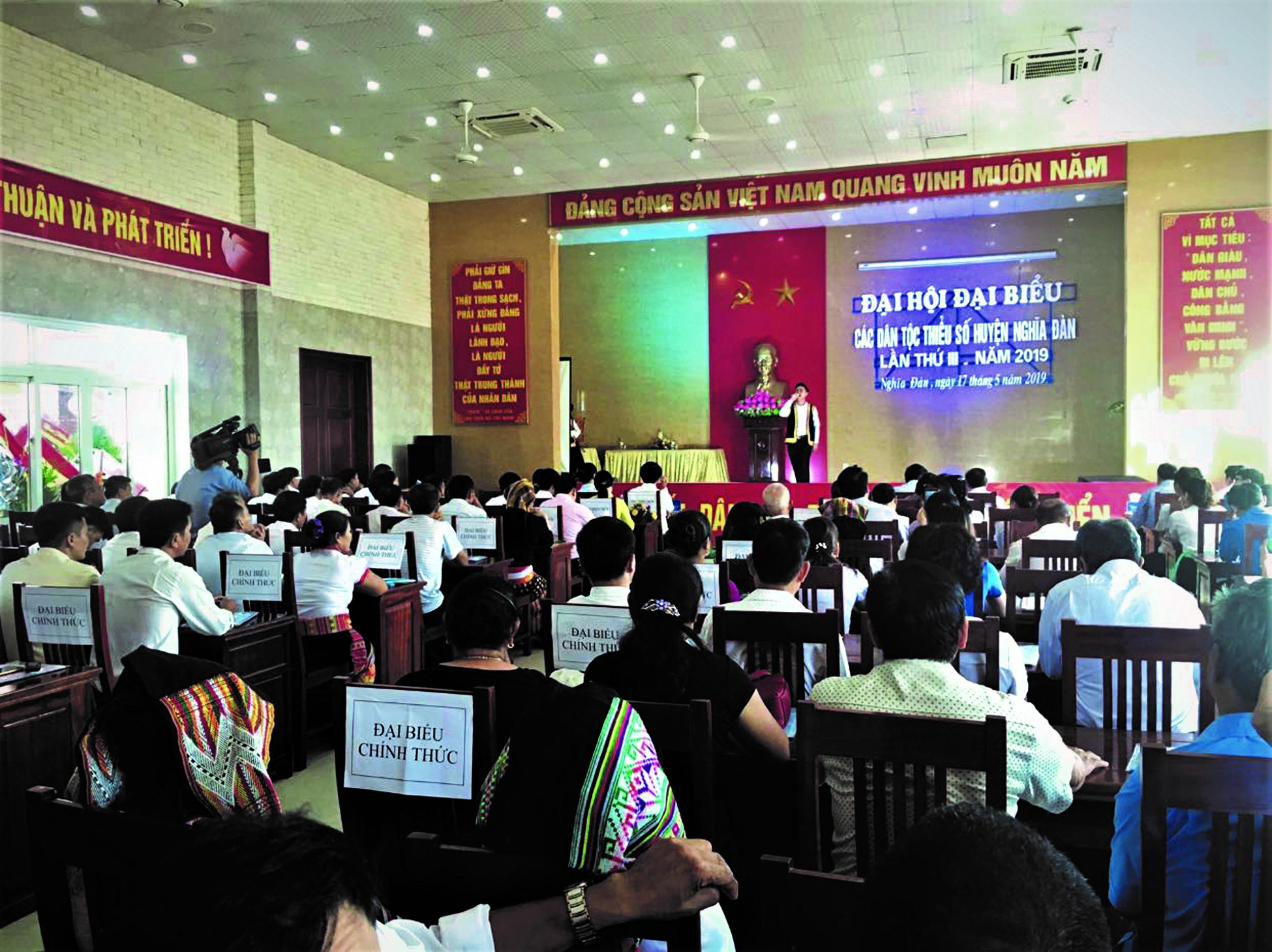 Toàn cảnh Đại hội Đại biểu các DTTS huyện Nghĩa Đàn.