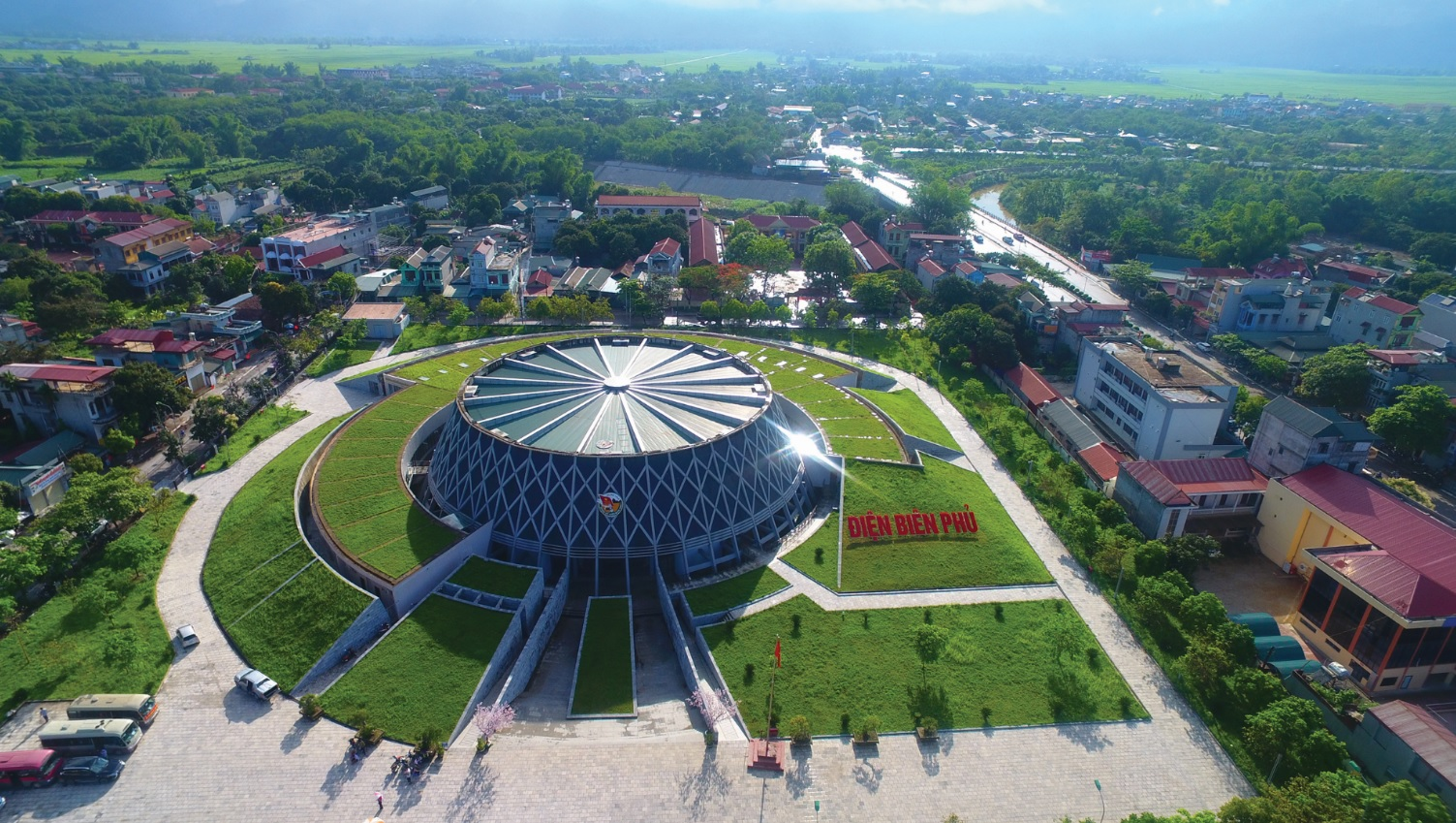 Bảo tàng Chiến thắng Điện Biên Phủ nhìn từ trên cao.