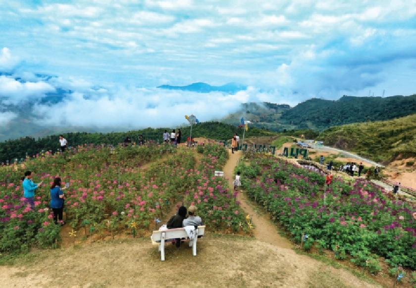 Trên cung đèo Pha Đin đã hình thành nhiều điểm du lịch hấp dẫn du khách khi đến Điện Biên.
