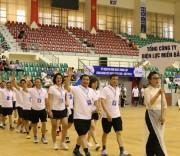 Đoàn vận động viên tham gia diễu hành Đoàn vận động viên tham gia diễu hành tại Hội thao CNVCLĐ của EVNNPC.