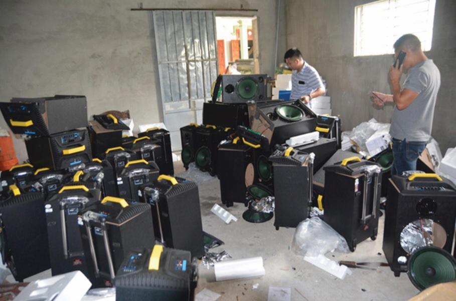 50 loa thùng từng đựng hàng trăm kg ma túy tại Nghệ An bị lực lượng chức năng bắt giữ vào tháng Tư vừa qua.