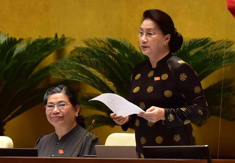 Chủ tịch Quốc hội Nguyễn Thị Kim Ngân phát biểu kết luận phiên chất vấn và trả lời chất vấn.