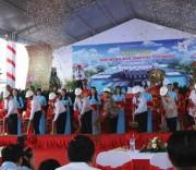 Chủ tịch Quốc hội Nguyễn Thị Kim Ngân và lãnh đạo TP. Cần Thơ tham gia lễ khởi công Đền thờ các Vua Hùng.